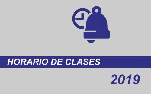 Horario de  Clases 2019