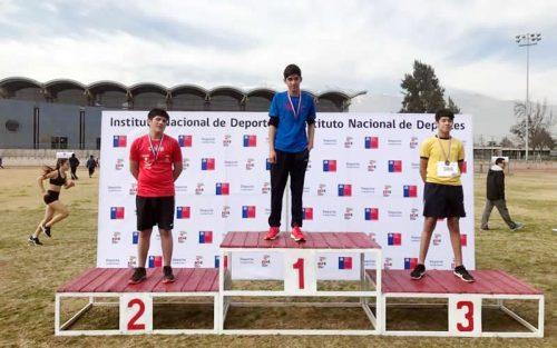 Estudiante de Colina fue destacado por el ministerio de deporte por su desempeño en los Juegos Deportivos Escolares