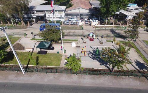 Estudiantes y Alcalde de Colina inauguraron nueva Plaza Andalién