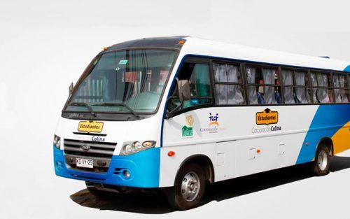 Buses corporativos que trasladan a estudiantes de Escuela San Francisco De Asis tienen nueva imagen