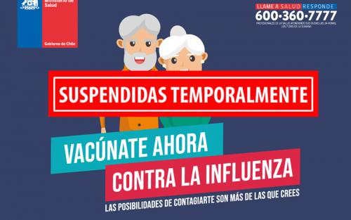 Calendario de vacunación contra la influenza para Adultos Mayores en sedes sociales