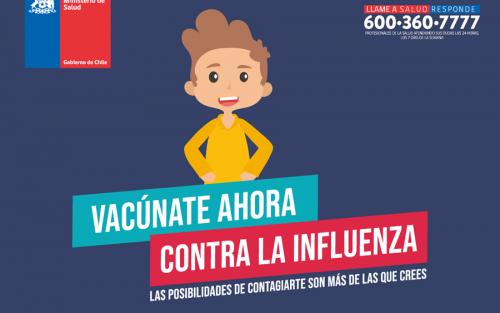 Calendario de vacunación contra la influenza en escuelas y colegios