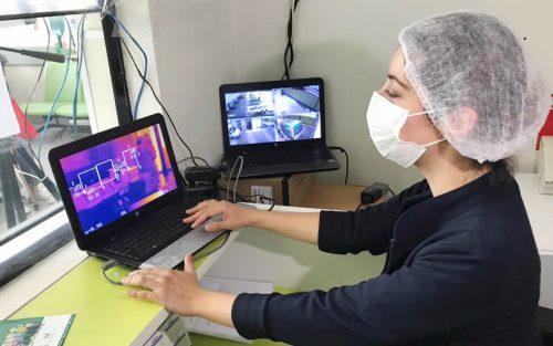 Colina implementa cámara termográfica que permite detectar fiebre en pacientes de forma instantánea