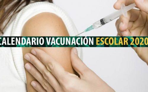 Calendario Escolar de Vacunación 2020