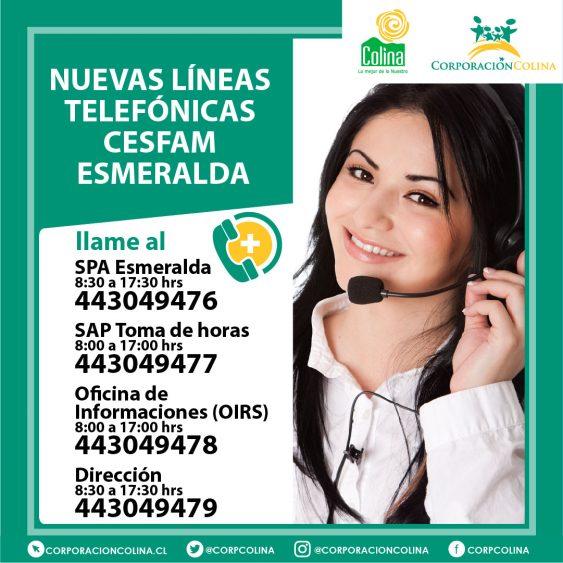 Nuevas Líneas Telefónicas Cesfam Esmeralda